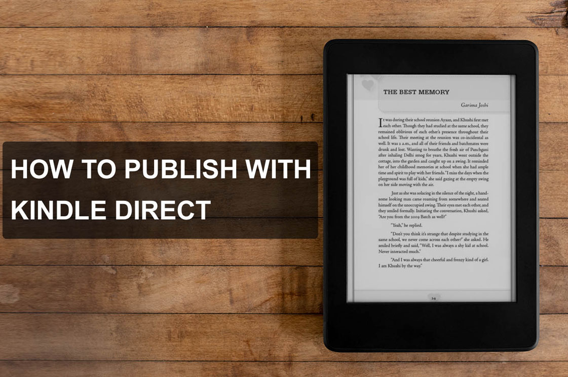 Publish with kindle direct