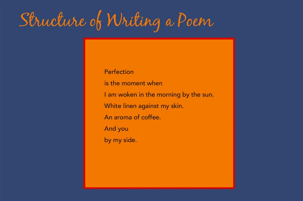structure of writing a poem