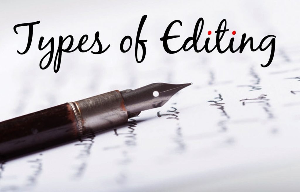 Types of editing