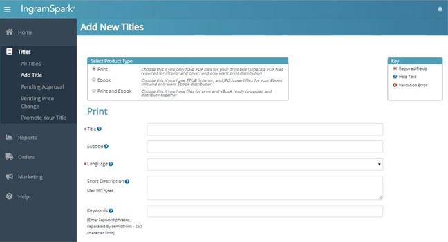 Title information setup