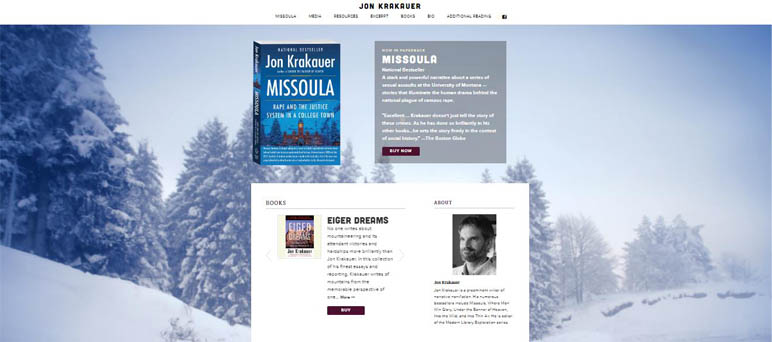 John Krakauer website template