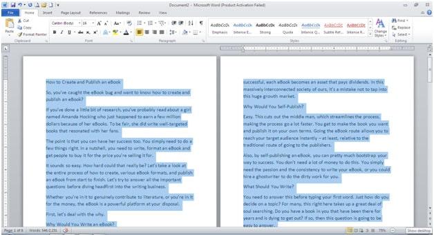 after the manuscript